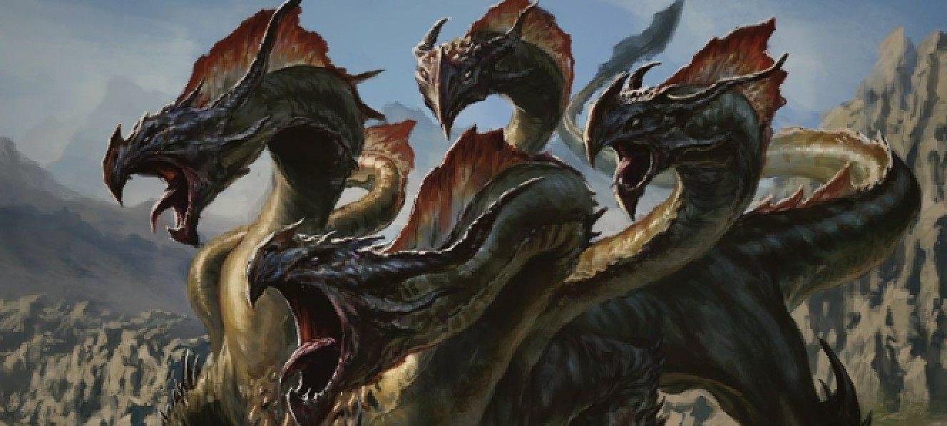 how many heads does a hydra dragon have
