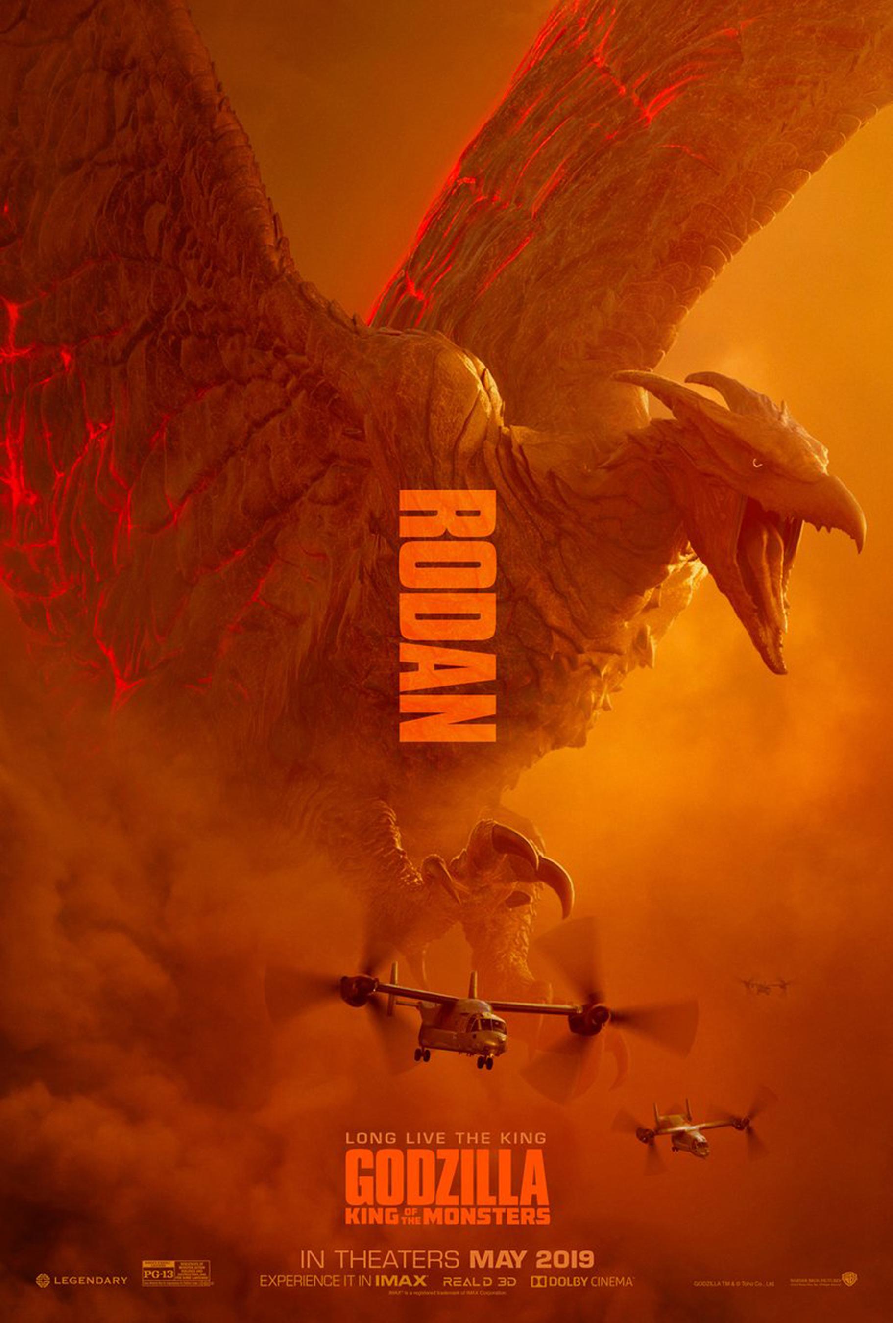 Godzilla: King of the Monsters posters  Rodan