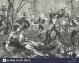 the-death-of-richard-neville-16th-earl-of-warwick-the-kingmaker-battle-of-barnet-1471-P67EBM