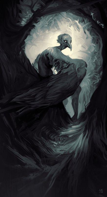 15431d7bdc213332247326eb7c7e9fb2--creature-concept-raven