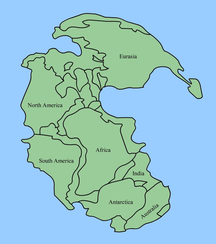 1.-Pangaea_continents